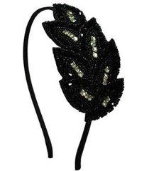 tiara bordada ania store folhas osaka feminina