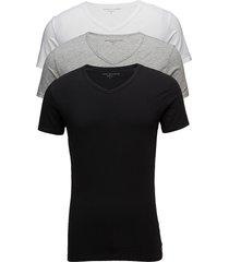 vn tee ss 3 pack pre t-shirts short-sleeved svart tommy hilfiger