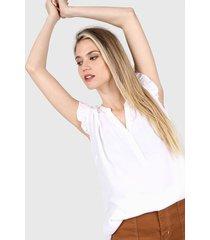blusa blanca ted bodin alani