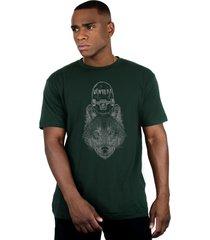 camiseta ventura wolfskater verde - verde - masculino - dafiti
