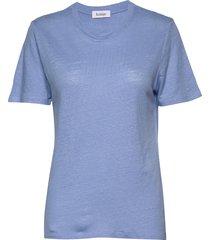 ninja linen t-shirts & tops short-sleeved blauw rodebjer