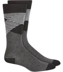 alfani men's oversized striped argyle socks, created for macy's