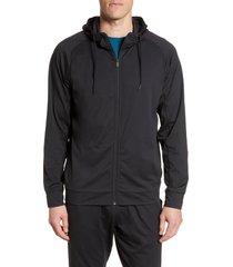 zella pyrite zip hoodie, size xx-large in black at nordstrom