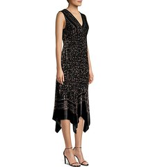 aroma leopard burnout velvet midi dress