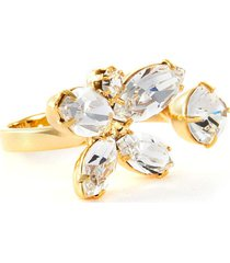 crystal butterfly open ring