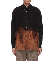tie-dye heavy poplin oversized shirt