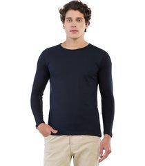 camiseta manga larga azul oscuro manpotsherd carl