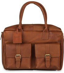 laptoptas burkely finn vintage businessbag classic 14 inch