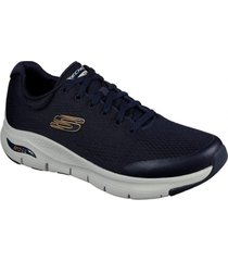 zapatos hombre  arch fit - azul skechers