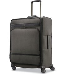 hartmann herringbone dlx medium journey expandable spinner suitcase