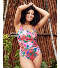 bora bora underwire square neck tummy control one-piece swimsuit c-gg
