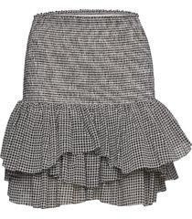 smocked ruffled mini skirt kort kjol grå designers, remix