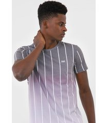 camiseta rock&soda listrada cinza - cinza - masculino - poliã©ster - dafiti