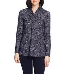 women's chaus paisley jacquard tunic