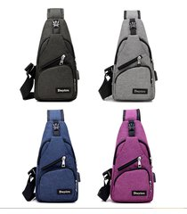 travel bag cross body with usb port