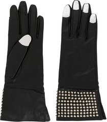 yohji yamamoto pre-owned 2000s micro studs contrasting nails gloves -