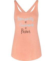 camiseta suave espalda cruzada coral triskel power