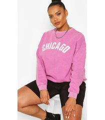 plus oversized chicago sweater, lila