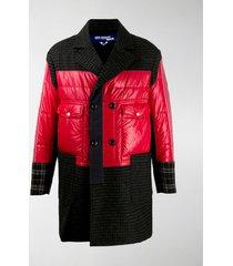 junya watanabe colour-block patchwork coat