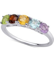 amethyst five-stone ring (1 ct. t.w.) in sterling silver (also in blue topaz & multi-gemstone)