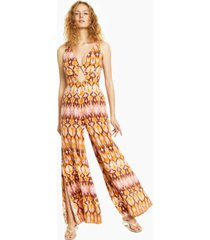 bar iii printed jumpsuit, created for macy's