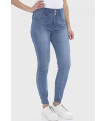 jeans 2 botones push up celeste curvi