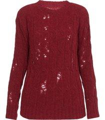 uma wang aran knit sweater