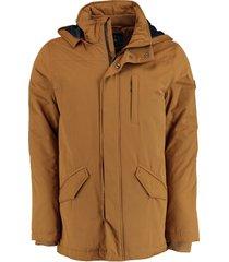 bos bright blue parka jacket 20301de10sb/860 bronze