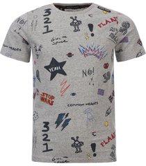 common heroes grey melee t-shirt all-over fancy print voor jongens in de kleur
