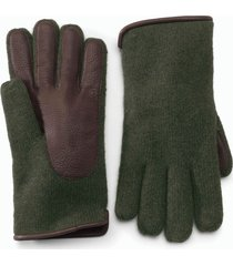lambswool/deerskin knit gloves