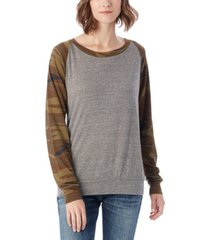 alternative apparel slouchy printed eco-jersey women's pullover top