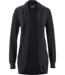 cardigan a manica lunga (nero) - bpc bonprix collection