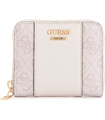 guess noelle small zip-around wallet