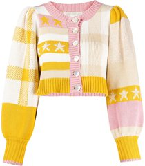 loveshackfancy bedford cropped cardigan - neutrals