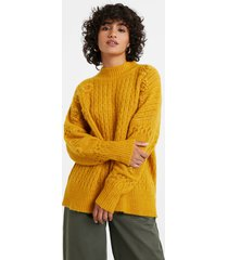 braided tricot jumper - orange - xl