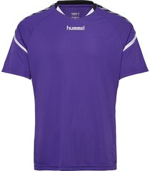 auth. charge ss poly jersey t-shirts short-sleeved lila hummel