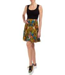 vestito abito donna corto miniabito senza maniche tropical baroque