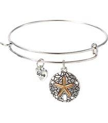 dolce amore cuore stella marina moneta ciondolo braccialetto braccialetto carino san valentino regalo per lei
