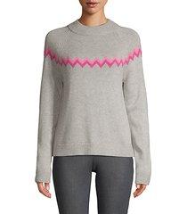 chevron wool blend sweater