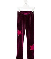 raspberry plum teen galaxy leggings - purple