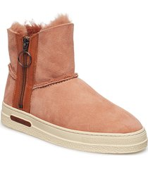 maria mid boot shoes boots ankle boots ankle boot - flat orange gant