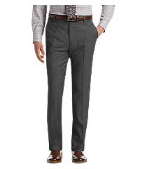 travel tech slim fit flat front dress pants by jos. a. bank
