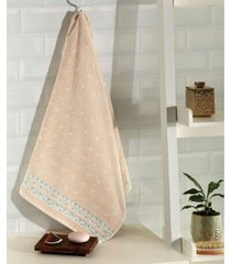 toalha de banho dohler jacquard premium, liso, bege - 6623