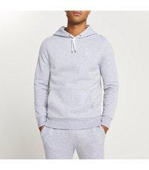 river island mens grey ri muscle fit hoodie