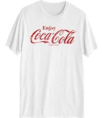 enjoy coke distressed men's short sleeve graphic t-shirt