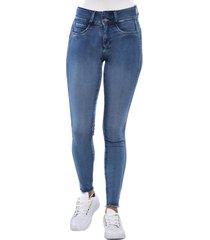 jeans tiro medio pitillo skinny 3101 azul amalia jeans