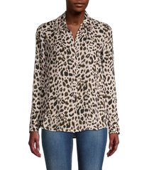l'agence women's wild-print silk top - abstract - size s