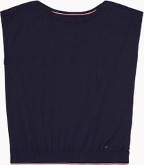 tommy hilfiger women's adaptive solid sweater t-shirt masters navy - s