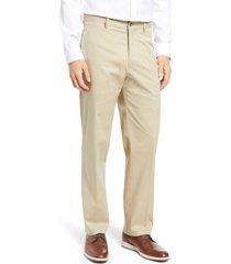 men's berle charleston stretch cotton chino pants, size 36 - beige