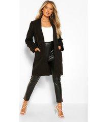 lichte nepwollen jas, zwart